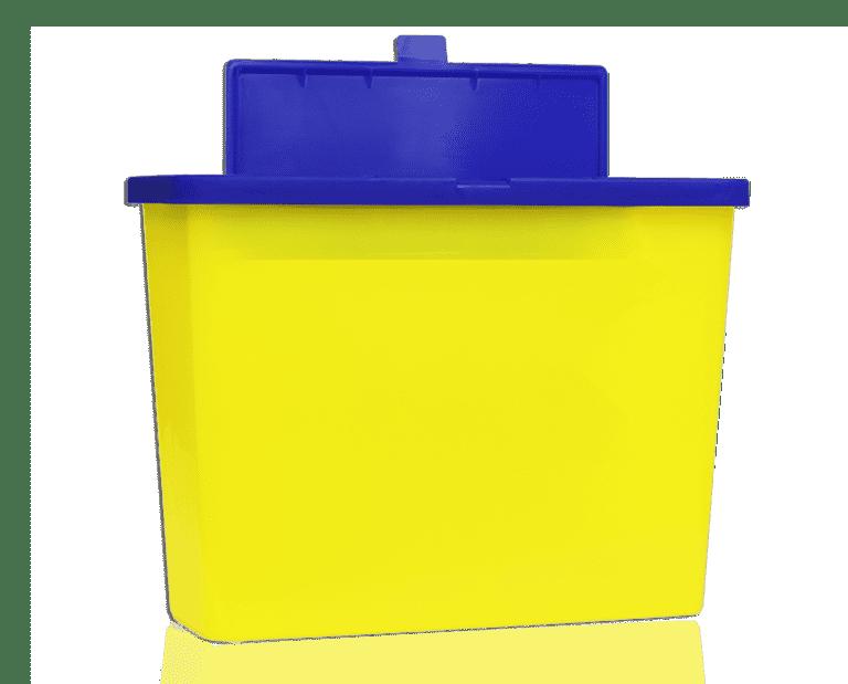 Domrex Sharpsin Bac jaune aiguilles souillées objets tranchants Sharps container Soiled needles