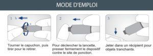 Press4 Lancette sécuritaire Mode d'emploi
